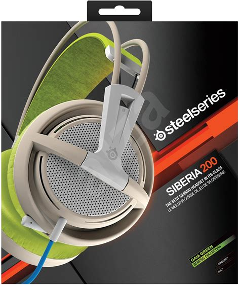 Steelseries Siberia 200 Gaia Green Gaming Headset steelseries siberia 200 gaming headset gaia green headset with mic alzashop
