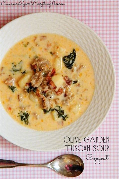 Copycat Olive Garden Soup by Olive Garden S Tuscan Soup Copycat Meal Ideas