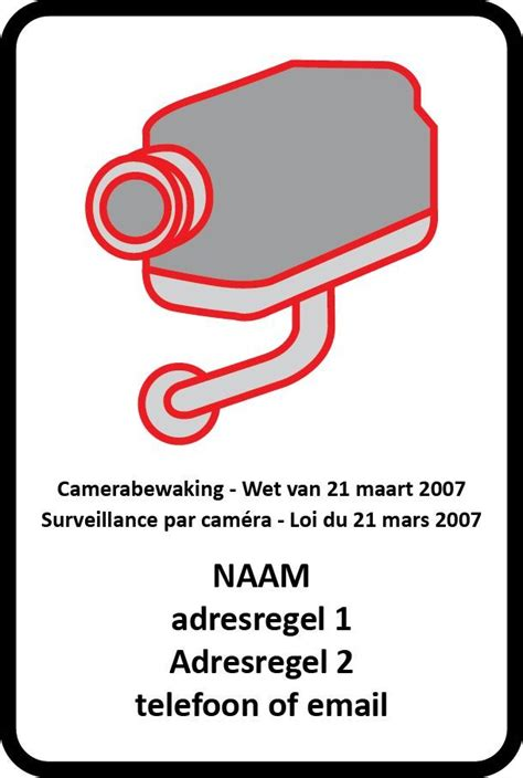 Sticker Camerabewaking Bestellen camerabewaking bord dr sticker