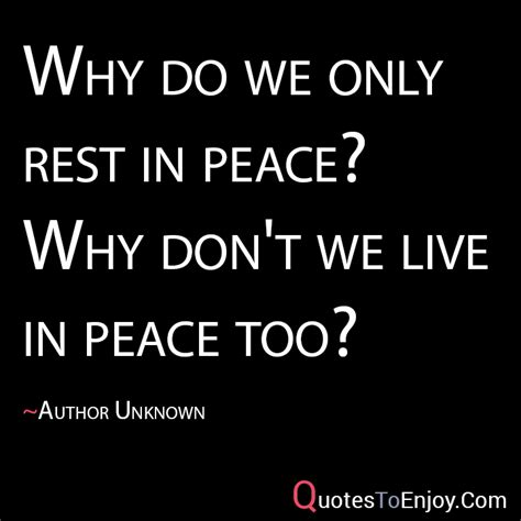 eat in peace to live in peace your handbook for vitality books quot why do we only rest in peace why don t we live in
