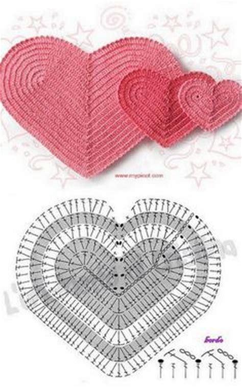 pattern m heart 8 40 crochet hearts diagram patterns crochet patterns and