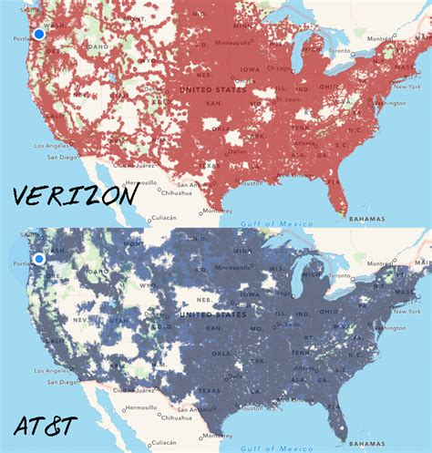 us cellular coverage map alaska verizon versus at t coverage across the us from coverage