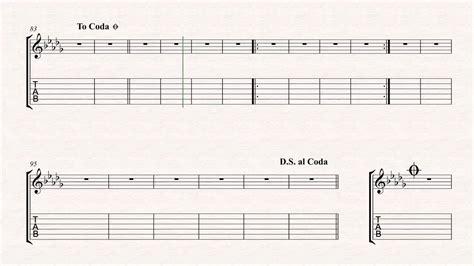 tutorial guitar stitches partition guitare stitches