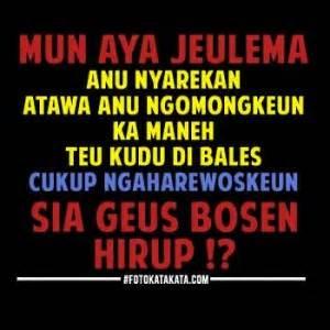 Kaos Kata Kata Bahasa Orang Sunda dp bbm orang aneh top tips