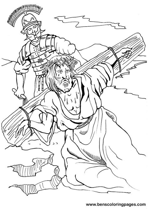 coloring pages of jesus carrying the cross good friday coloring pages coloring page of jesus carrying