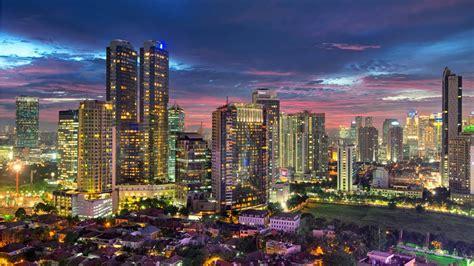 wallpaper jakarta jakarta city evening wallpapers 1366x768 464024