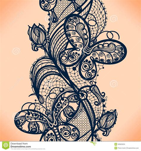 lace pattern tattoo template lace pattern stock vector image of element doily