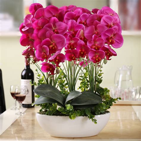 Flower Decorations For Living Room phalaenopsis suite living room interior decoration flowers