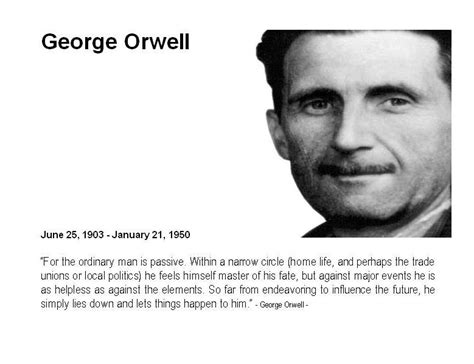 biography george orwell korrekt