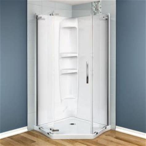 maax olympia 37 in x 37 in x 77 in shower stall in