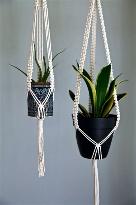 Diy Rope Hanging Planter - 40 diy hanging planter ideas for indoors bored
