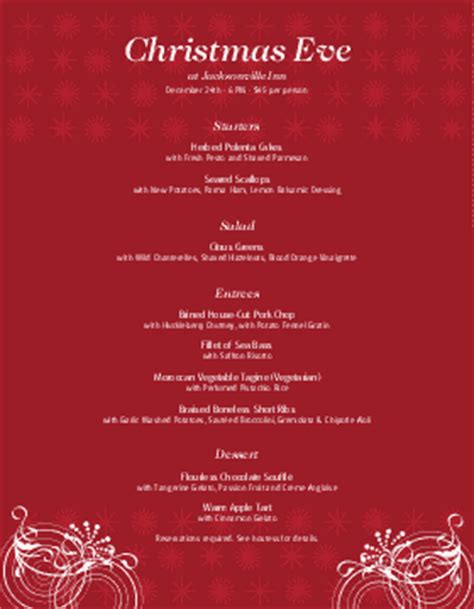 christmas menu template and designs musthavemenus