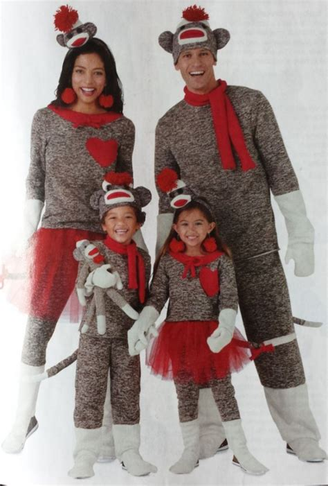 diy sock monkey costume best family costumes of all time