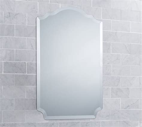 frameless mirrored medicine cabinet recessed piper frameless recessed medicine cabinet pottery barn
