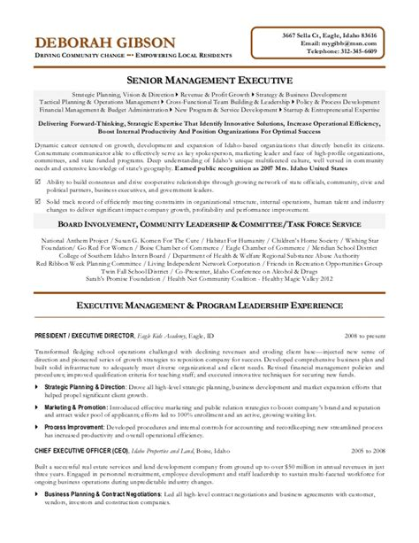 non profit executive resume