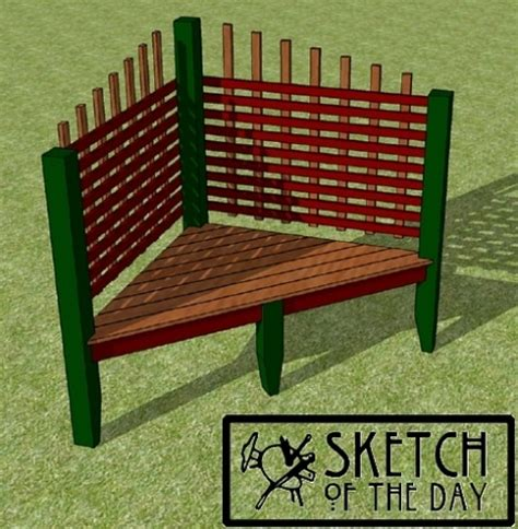 outdoor corner bench outdoor corner bench chief s shop sketch of the day