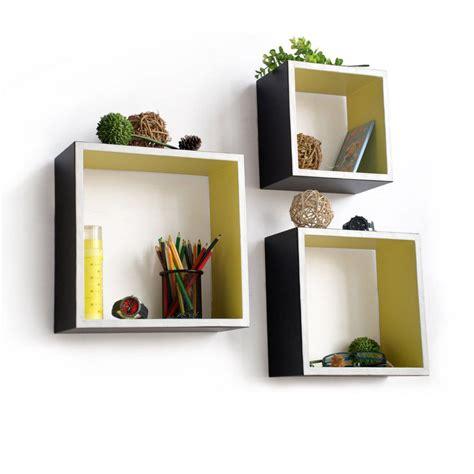 square shelves wall carbon black square leather wall shelf bookshelf