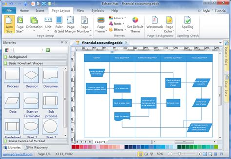 flowchar maker simple financial accounting flowchart maker make great