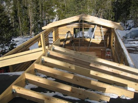 Cabin Roof Construction by Image Gallery Log Cabin Roof Styles