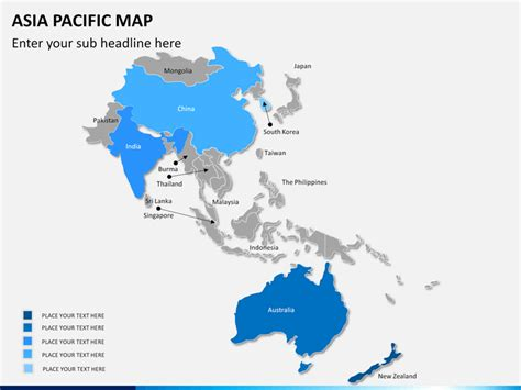 Best Colour Names by Asia Pacific Map Powerpoint Sketchbubble