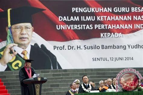 Ilmu Negara Ori 1 presiden sby dikukuhkan sebagai guru besar ilmu pertahanan