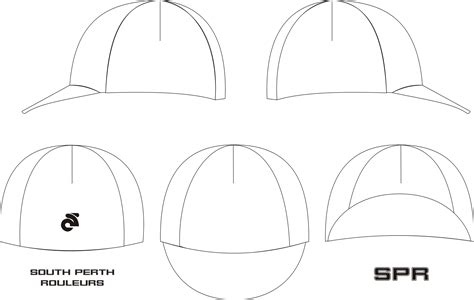 Team Kit South Perth Rouleurs Page 3 Cap Design Template
