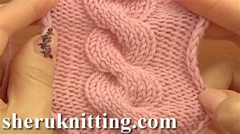 Cable Pattern Knit Youtube | front cross cable stitch pattern c8f knitting tutorial 12