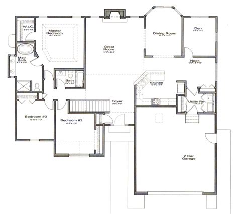 open floor plan blueprints open floor house plans cottage house plans