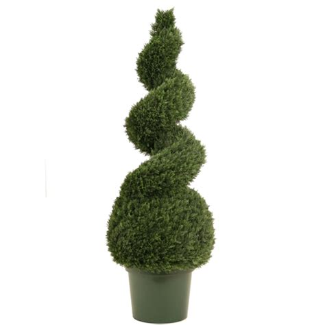 plastic topiary trees 4 narrow spiral cedar topiary in plastic liner in import