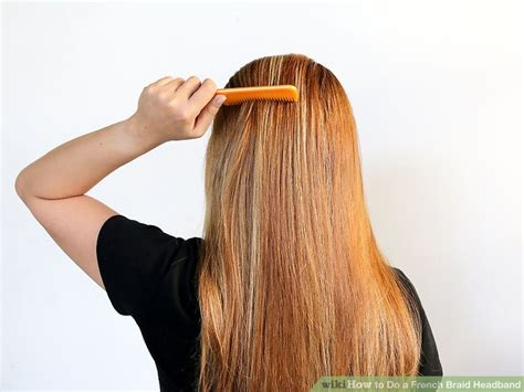 french braid headband step by step how to do a french braid headband 11 steps with pictures