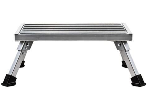 Aluminum Rv Step Stool rv cer motor home trailer silver aluminum folding