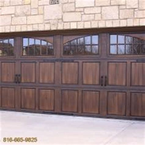 How To Stain A Metal Garage Door by Gallery Fauxkc
