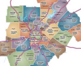 Map Of Atlanta by Pics Photos Atlanta Ga Map Neighborhoods