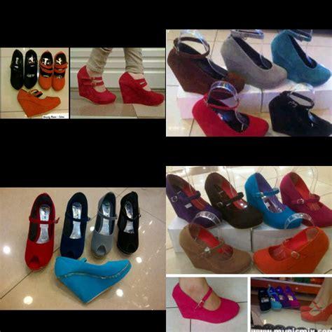 Sepatu Heels 7cm Tali wedges 10 dan 12cm