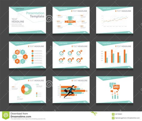 infographic business presentation template set powerpoint