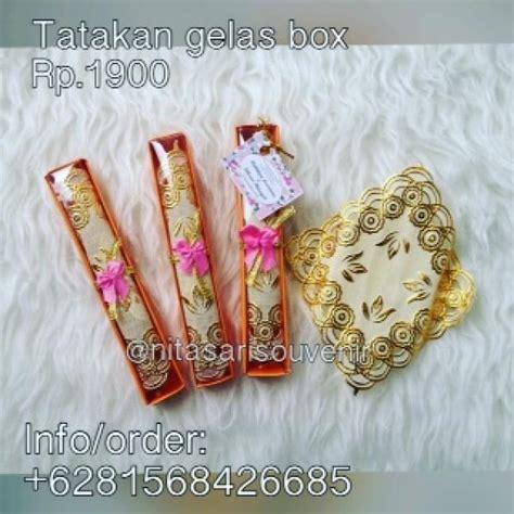 Souvenir Pernikahan Tatakan Gelas Box Asg tatakan gelas box