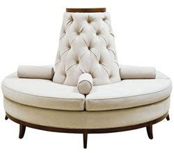 circle banquette settee lobby sofa custom made center settee banquette sofa