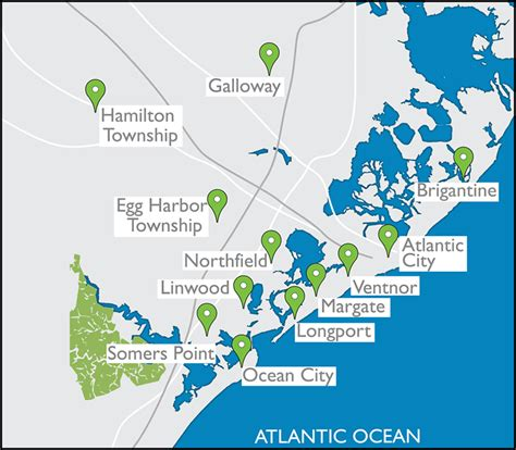 jersey shore map south jersey shore area map margate atlantic city ventnor and longport new jersey real