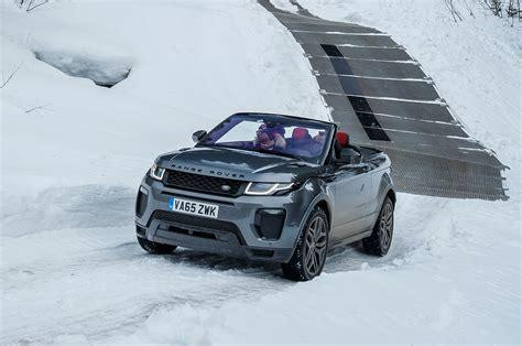 land rover snow 2017 range rover evoque convertible review