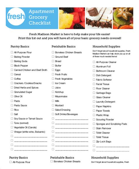new apartment checklist 9 free word pdf documents
