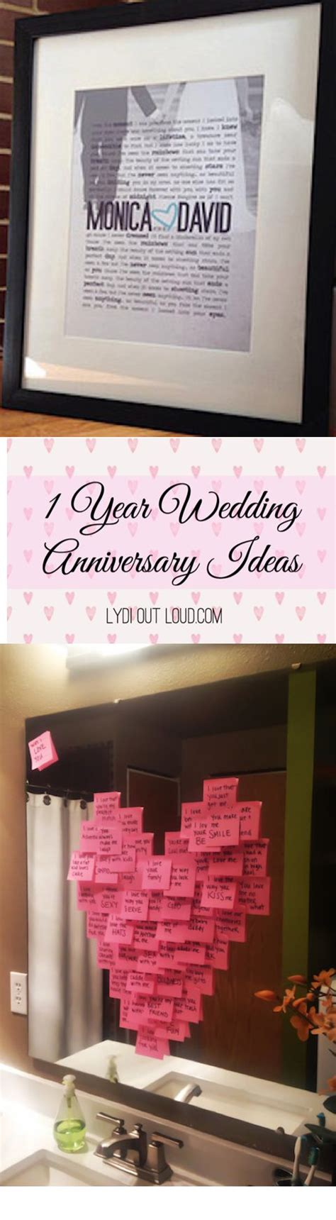1 year anniversary gift ideas anniversary wedding and lyrics