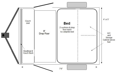 teardrop trailer floor plans the simple sleeper teardrop trekker trailers