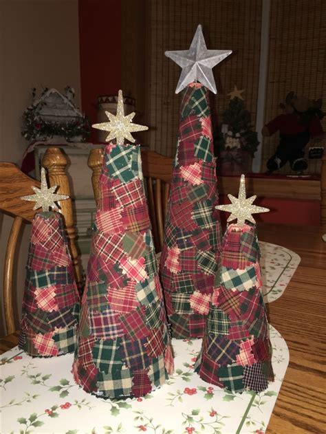 christmas trees styrofoam cone material craft ideas