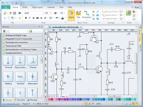 best software for diagrams free electronic circuit diagram schematic drawing software