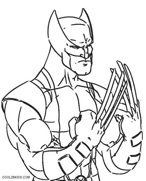 marvel wolverine coloring pages coloring pages