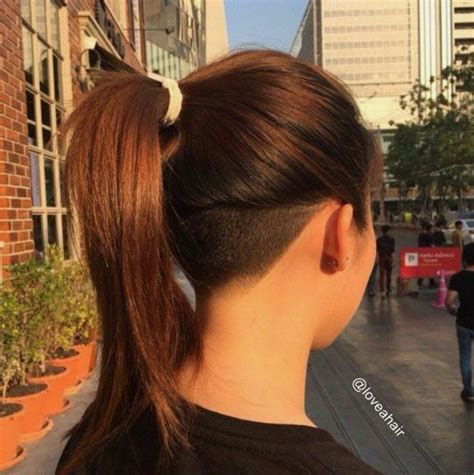 short hairs back of neck poney tail 34 best undercut images on pinterest barbers beautiful