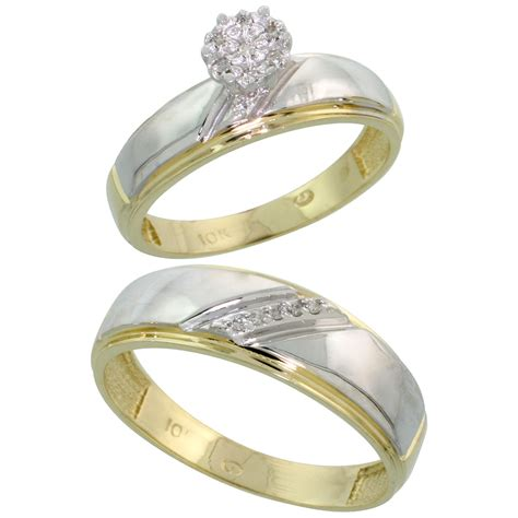 engagement rings for women 10k yellow gold diamond engagement rings set for men and