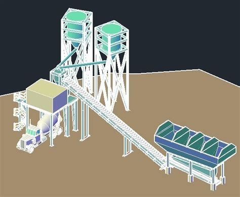 concrete batch plant dwg block  autocad designs cad