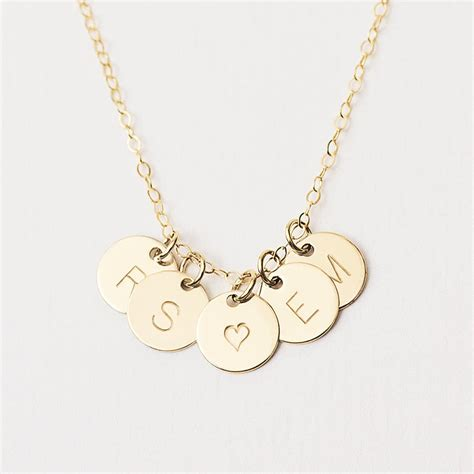 Necklace By personalised initial disc necklace by minetta jewellery notonthehighstreet