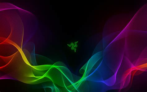 razer abstract waves sync wallpapers